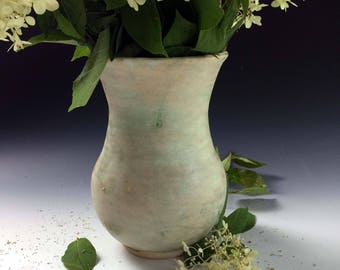 Ready to ship, Stoneware Vase by Leslie Freeman, Flower vase One of a Kind