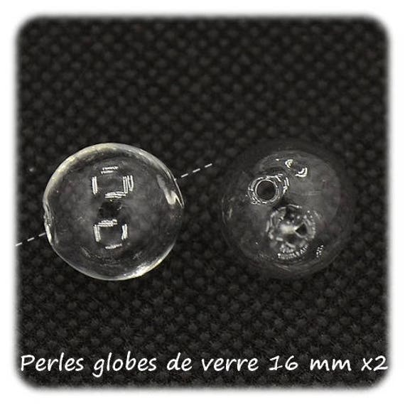 Globes glass, Pearl glass bead 16 mm, lot globes globe beads DollyDoo round globe, glass, drilled, world globe globe charm