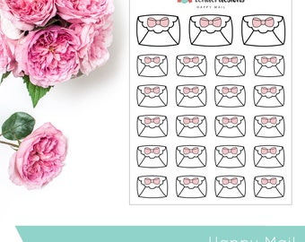 Happy Mail | Doodles | Planner Stickers