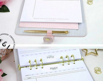 Printed A5 Habit tracker, Bullet journal, Monthly habit Tracker, Fitness tracker, A5 Planner Inserts, A5 Planner, Planner refill