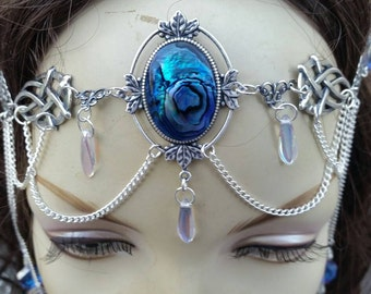 Crystalline Circlet of the Mermaid Sorceress celtic druid vampire goddess elven cosplay bridal