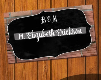 Rustic Placecards / Flat Place cards / Folded Place cards / Do it yourself / Wedding Placecards / Personalized Place Cards