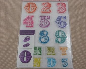 """""""Numbers"""" clear stamps set"""