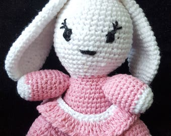 Crochet bunny Amigurumi toy,Handmade Toy