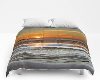 Duvet Cover or Comforter, Sunset, Gift, Colorful, Scenery, Boho, Without Inserts, Girl, Dorm, Nursery, Landscape, Nature, Ocean, Scenic