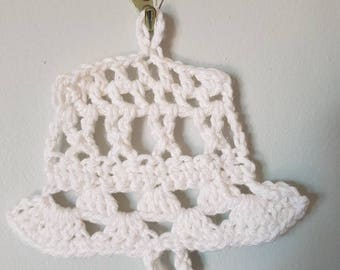 Hand crochet 100% cotton Christmas bell