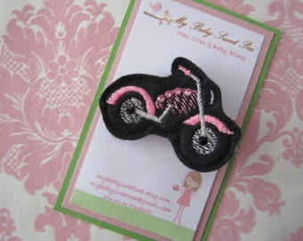 Girl hair clips - motorcycle hair clips - girl barrettes