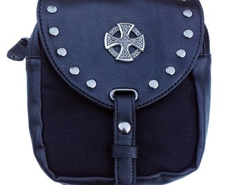 Kilt bag black Celtic Cross