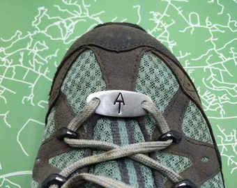 Hand stamped Appalachian Trail symbol Shoe Tag | Appalachian Trail symbol