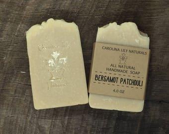 Bergamot Patchouli Handmade Bar Soap
