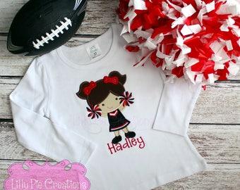 Football Sister Shirt, Girls Football Shirt, Girls Cheerleader Shirt, Girls Team Spirit Shirt,  Football Outfit Baby Girl, Made to Order