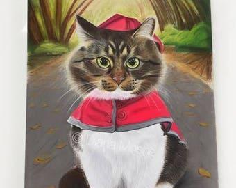 Pastel pet portrait, Pet portrait, Cat painting, Cute pet gifts, cat gifts, cute cat