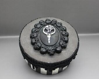 Handmade goth style gift or keepsake box