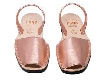 Women's rose gold sandals
