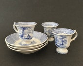 Footed Cups Saucers Antiq...