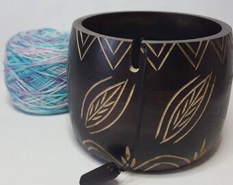 KnitPro yarn bowl, LEAFY, yarn holder