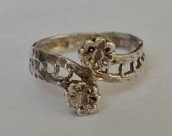 Vintage Sterling Silver Hand Wrought Ring Size 6.75