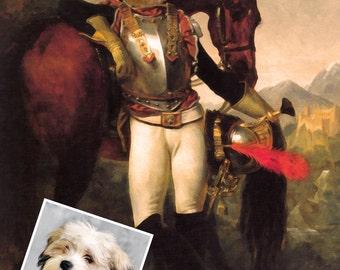 Dog Portrait, Dog Portrait Custom, Military Dog Portrait, Pet Portraits From Photo, Custom Dog Portraits