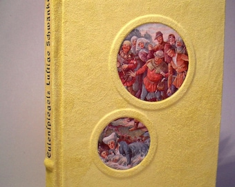 Till Eulenspiegel funny comical tales 1928 leather cover art book binding unique