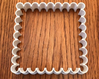 Scalloped square cookie and fondant cutter