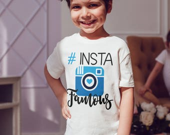 Instafamous  T-Shirt, Childrens Toddlers T Shirt Top.