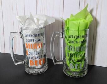 Beer Mug Custom Gift for Him Personalized Father's Day 21st Birthday 30th Birthday Groomsmen Gift Handmade Gift for Men Beer Funny Mug