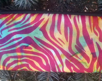 Batik padded zippered glasses case with d-ring, Reflections, The Spex