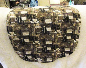 Coffee Flannel Adult or Kids Bib Clothing Protector
