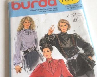 1980s Burda Blouson Top Unused Sewing Pattern No. 7643 Modern Sizes 8 - 16