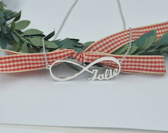 Infinity necklace-infinity jewelry-custom silver necklace with names-personalized name jewelry made by hand