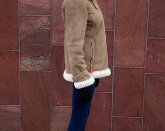 Sheepskin short jacket