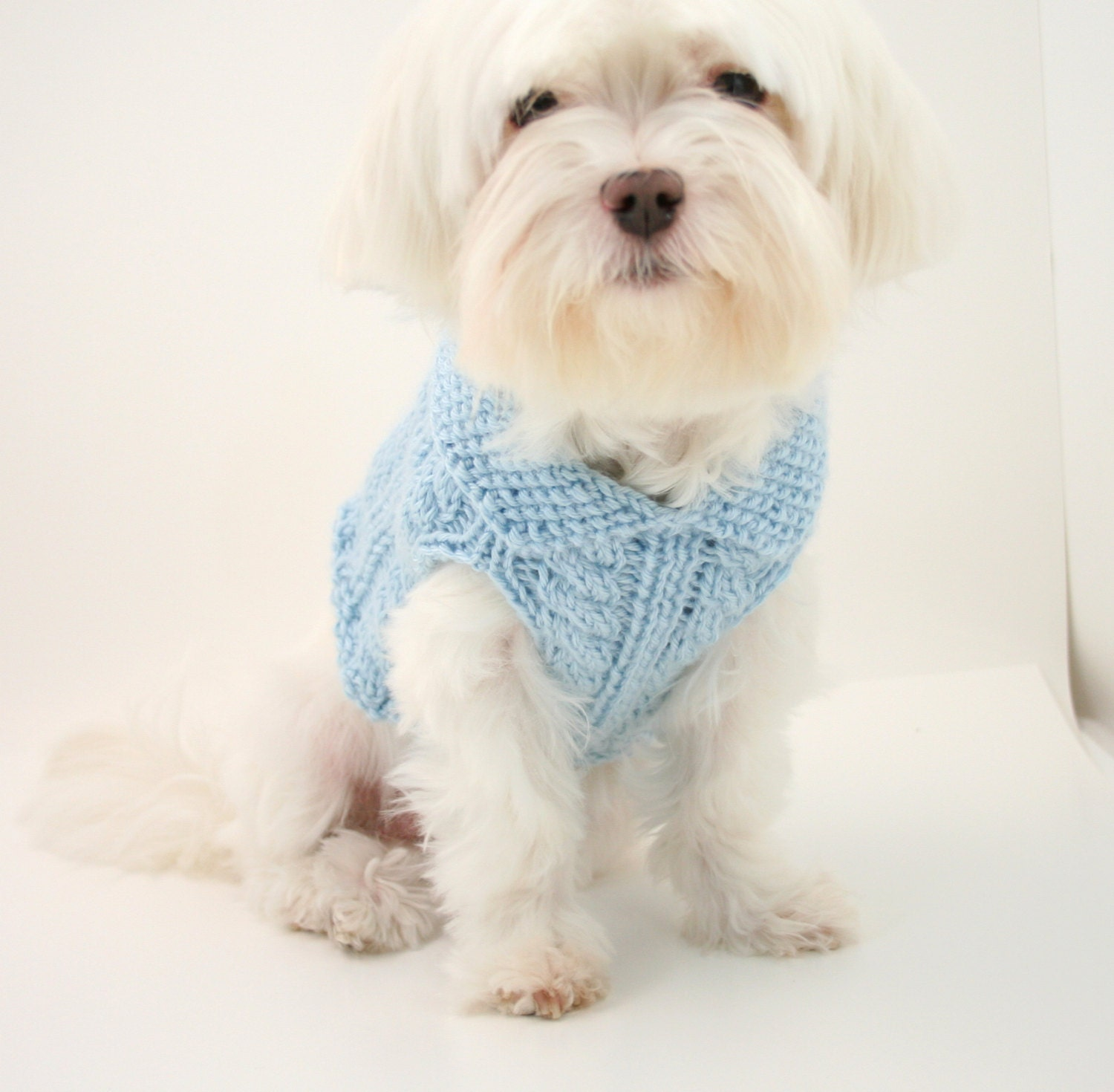 PDF DIGITAL PATTERN:Knit Dog Clothes Pattern,Knit Dog Sweater ...