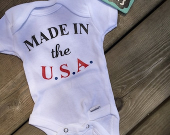 Newborn onesie -> { READY to ship NOW } - Made In The U.S.A. - Slightly Imperfect