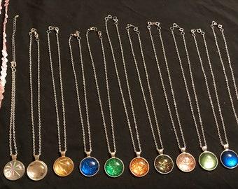 Prismatic Cabachon Necklaces