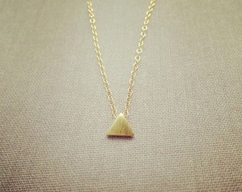 Tiny triangle gold plated necklace pretty, lovely, cute, adorable, jewelry