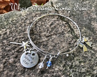 Pinocchio Quote Bracelet (When You Wish Upon a Star)