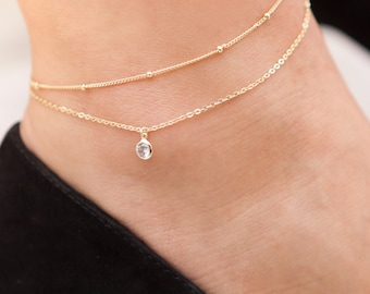 Silver Anklet, Balls Anklet, Anklet Bracelet, Double  Balls, Silver Balls Anklet, Foot Jewelry, Beach Jewelry, Beaded Anklet