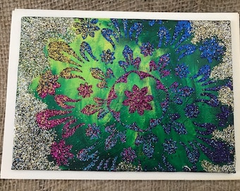 Rangoli Painting/Postcard on Canvas Board #4