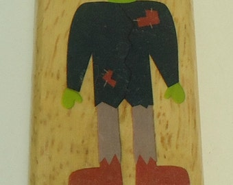 Frankenstein Halloween Wood Mounted Rubber Stamp By The Canadian Maple Collection