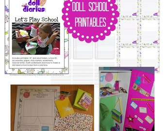 Doll Sized School Printables and Activities