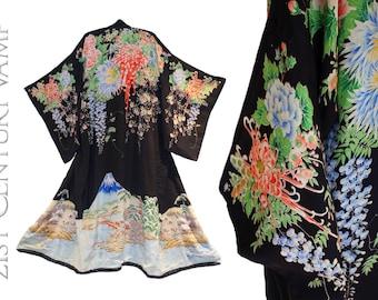 Stunning 1920s Kimono. Silk Flapper Robe. Jazz Age. 20s 30s. Japan.