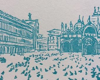 Venice - eight letterpress note cards