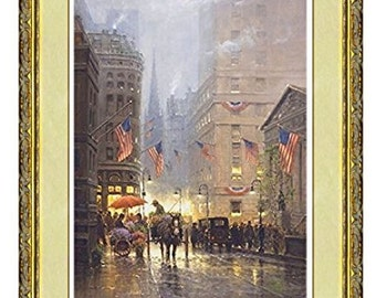 """Americana Nostalgia Art G. Harvey """"Vendors of Dreams"""" Limited Edition Signed & Numbered Giclee Framed Art Print (36"""" x 45"""")"""