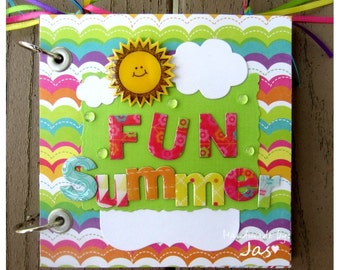FUN Summer Premade Mini Album - Ready to Ship- We Ship FAST
