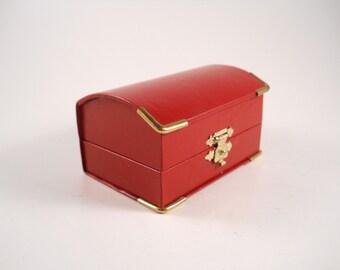 Bright Red Trinket box Trunk
