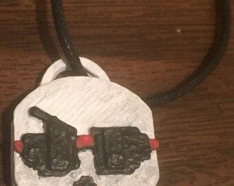 """3D Printed """"Cool Dude"""" Papyrus Keychain"""
