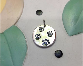 4 Paws Sterling Silver Charm