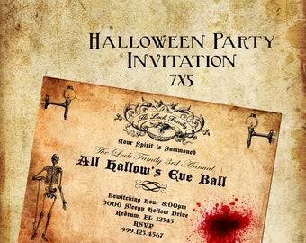 All Hallow's Eve -  Halloween Digital Invitation/Halloween/ Hallow's Eve/ Scary/ Halloween Ball/ Halloween Party