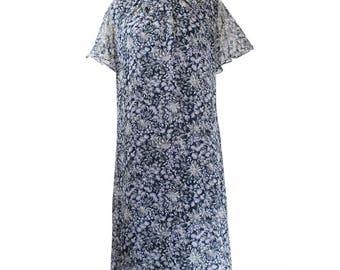 1960's Floral Shift Dress