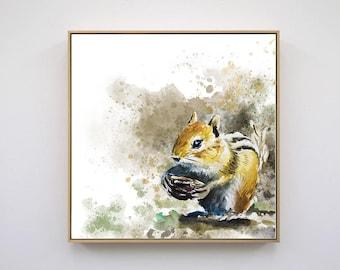 Squirrel Original Art Instant Download Printable